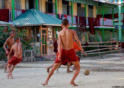 monks myanmar football