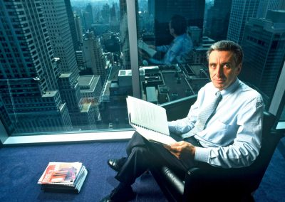 Man office, NY skycraper