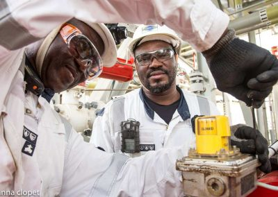 Workers on FPSO