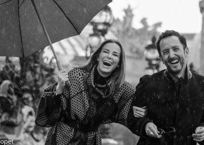 lifestyle Paris,Pont Alexandre , rain , laughter