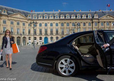 Place Vendome shopping luxury car