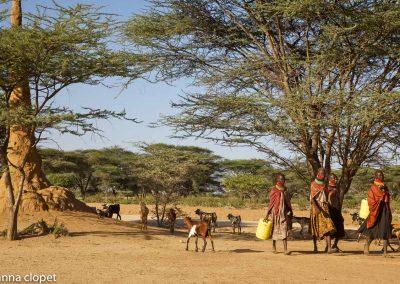 Turkana Kenya Turkana-people landscape-Turkana women