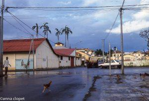 Malabo Street chickens city scene Equatorial Guinea