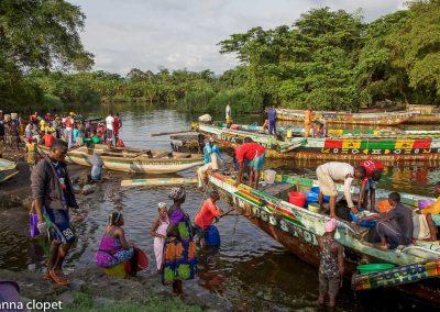 Cameroon#river#boats#border#